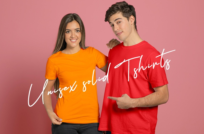 unisex solid t-shirts
