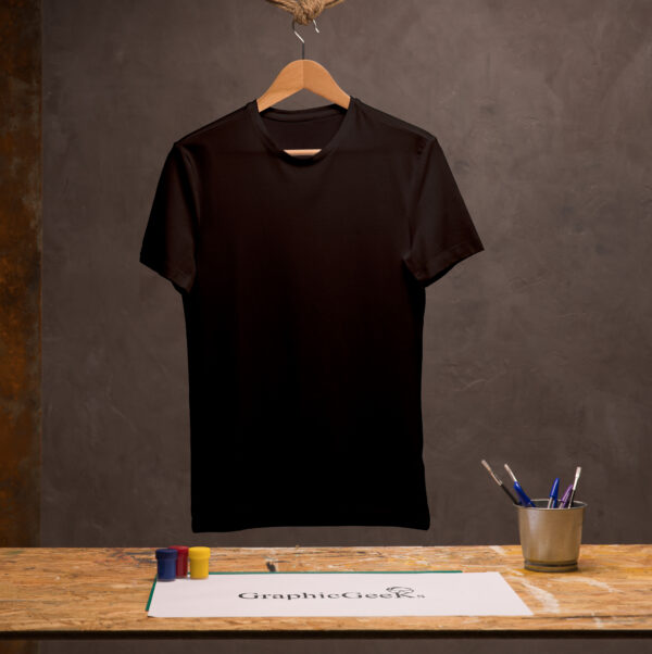 Cotton crew neck black T-Shirt