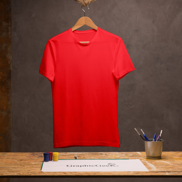 Cotton crew neck red T-Shirt