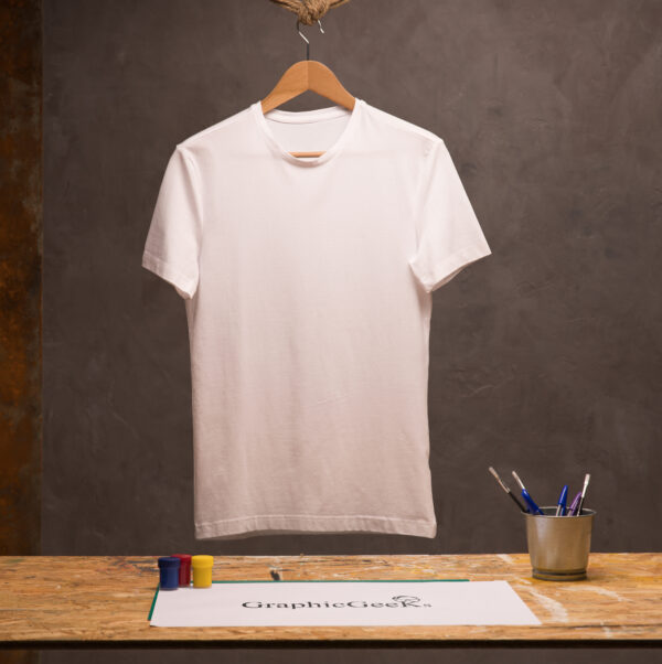 Cotton crew neck white T-Shirt